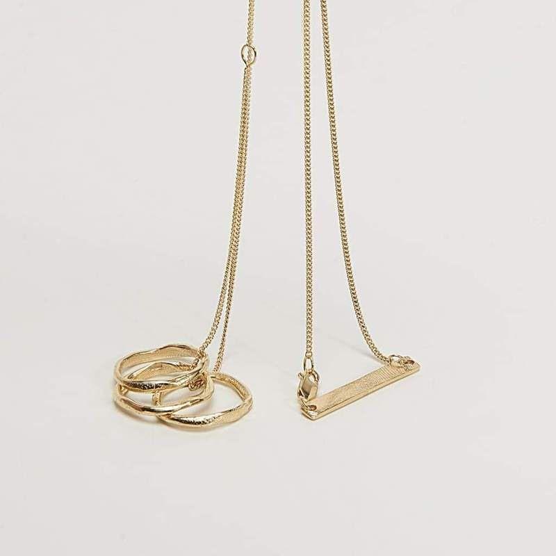Cornelia Webb, polly me gulpläterat mässing halsband