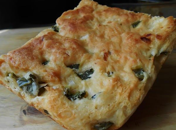 I used some leftover foccacia bread I had baked and frozen.  I just...