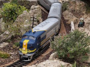 La locomotive Santa Fe du Jarditrain en Vaucluse