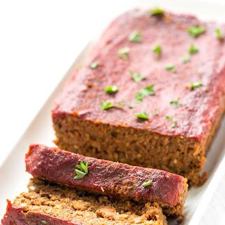 Vegan Lentil + Quinoa Meatloaf.