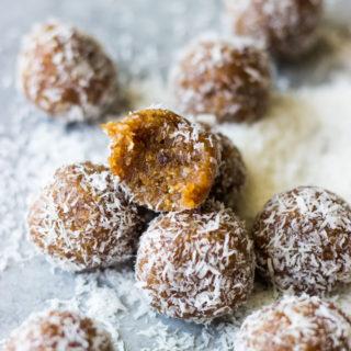 3-Ingredient Coconut Date Bites.