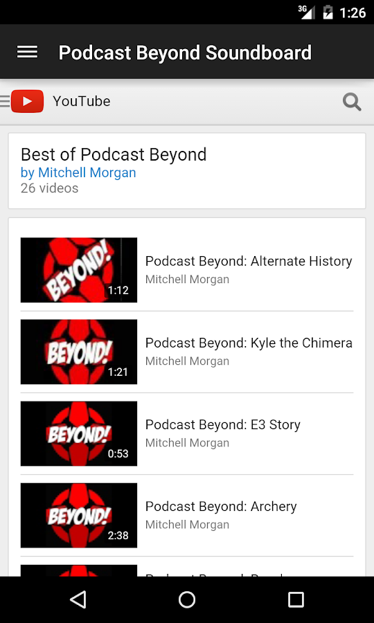 Podcast Beyond Soundboard - screenshot