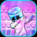 Purple Neon DJ Keyboard Theme icon