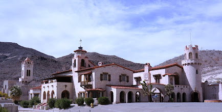 Photo: Scotty's Castle is a two-story Mission Revival and Spanish Colonial Revival style villa located in the Grapevine Mountains of northern Death Valley. It is also known as Death Valley Ranch.