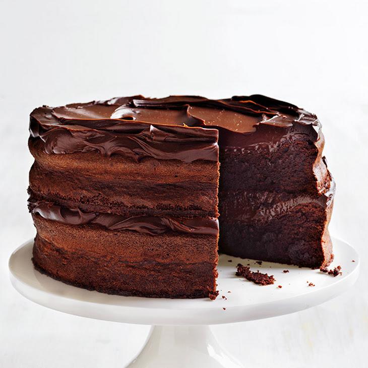 Flourless Chocolate Fudge Layer Cake Recipe