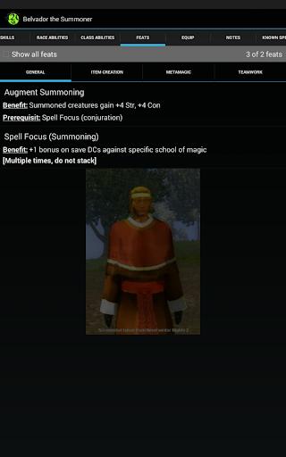 d20 Character Sheet screenshot 12