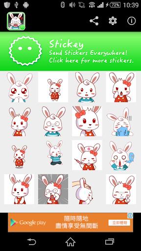 Stickey White Rabbit
