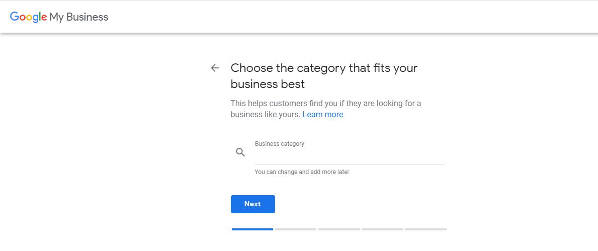 Google My Business Category