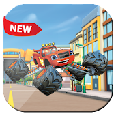 blaze monsters car : city adventure