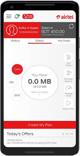 Airtel MyPlan v1.4 screenshots 2