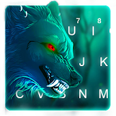 Scary Wild Wolf Keyboard Theme