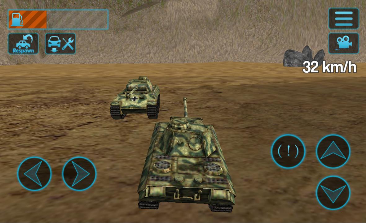 Screenshots of Tank Driving Simulator 3D for iPhone