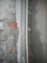 Photo: FF Bathroom LHS. Shows the pipe and conduit- D-41, P-3 GNOIDA, Built by Nanak Builders, Mr. Virender Batra