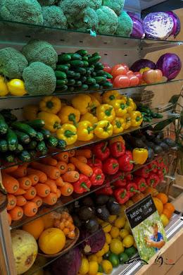棚に並ぶ野菜たち