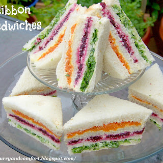 Sri Lankan Ribbon Sandwiches (Vegetable Tea Sandwiches)