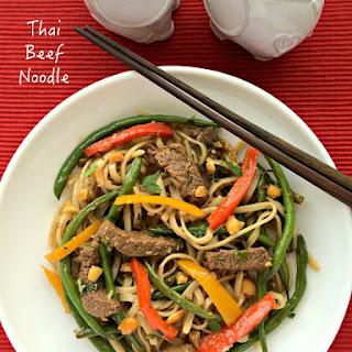 Thai Beef Noodles.