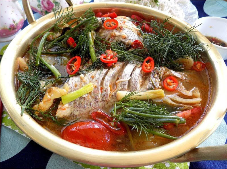 Cá chép om dưa cải chua chuẩn vị cực đơn giản
