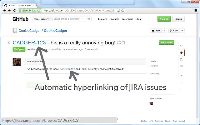 Linkify JIRA Issues