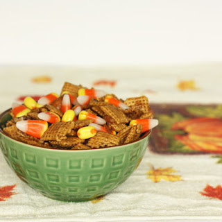 Candy Corn Chex Mix.