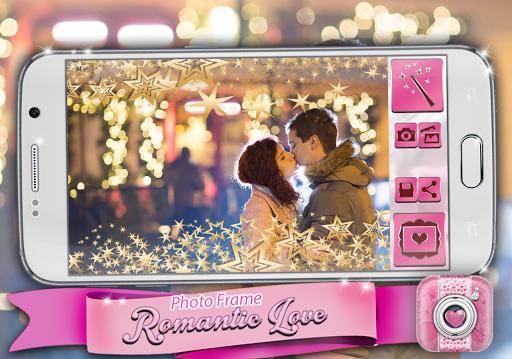 ロマンチックな愛のフォトフレーム