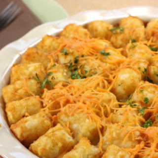 Meat Loaf Tater Tot Casserole.
