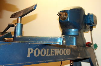 Photo: Jerry's Poolewood lathe, purchased from and delivered by David Ellsworth
