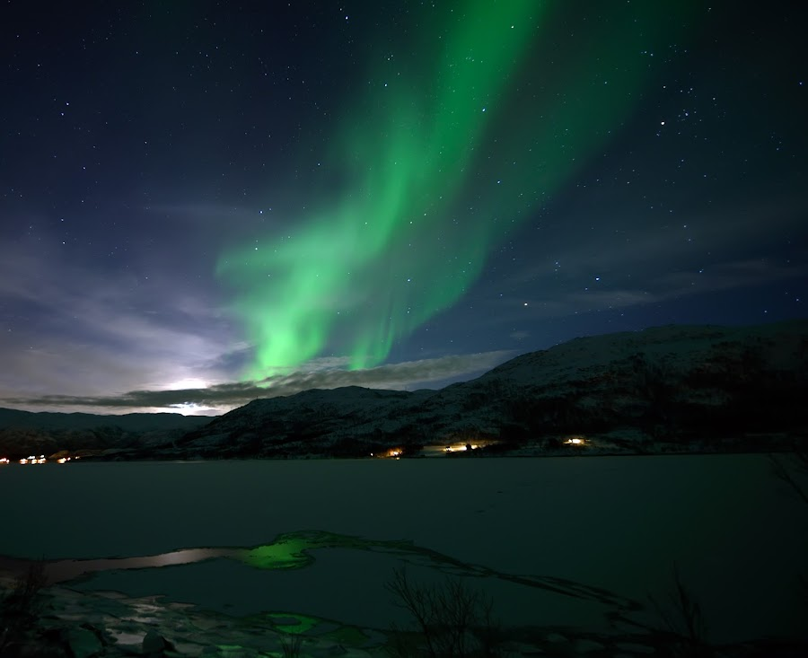 Aurora by Marius Birkeland - Landscapes Starscapes ( sky, stars, aurora borealis, aurora )