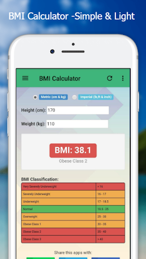 BMI Calculator - Easy & Simple screenshot 3