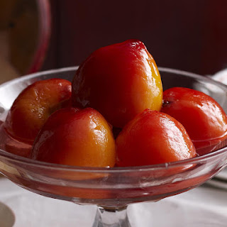 Blushing Poached Peaches