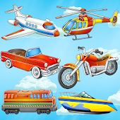 Puzzles for kids: vehicles