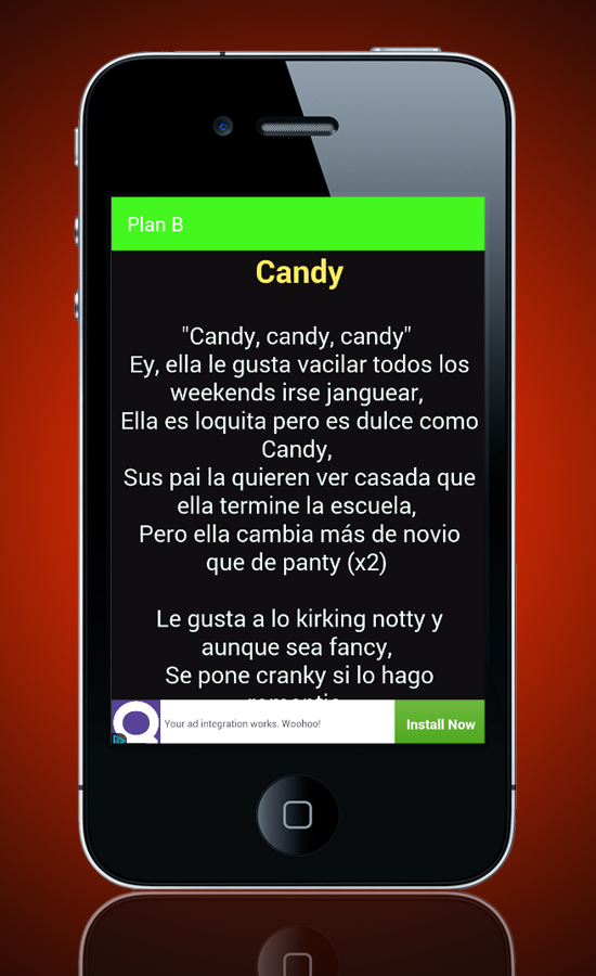 Música Plan B Choca Letras - Android Apps on Google Play