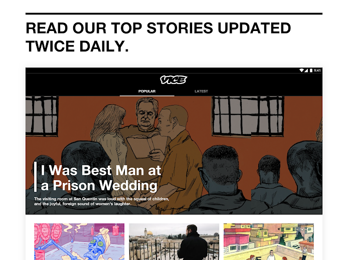 Screenshot 6 for VICE's Android app'