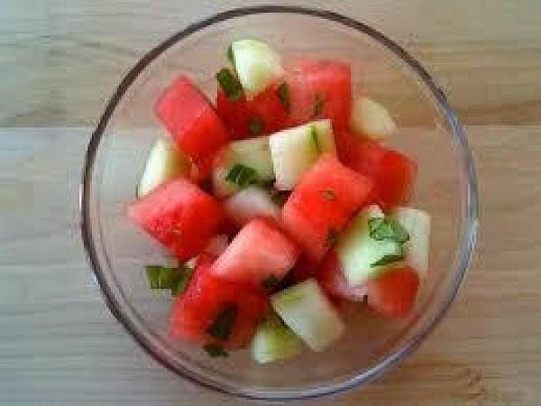 Watermelon And Cucumber Salad Recipe