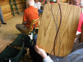 Photo: One of Art's fair entries a nice cutting board
