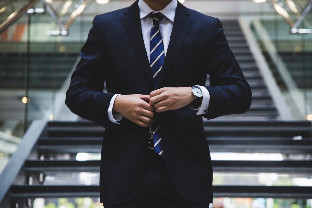 flipper in work suit