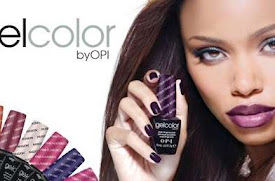 OPI Gel Polish advert with a lady holding a nail polish bottle up