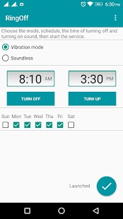 Ring Off – ring off/on scheduler, silent mode. Screenshot