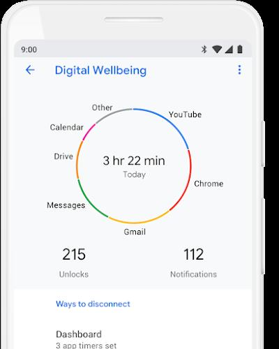 Digital Wellbeing App home screen