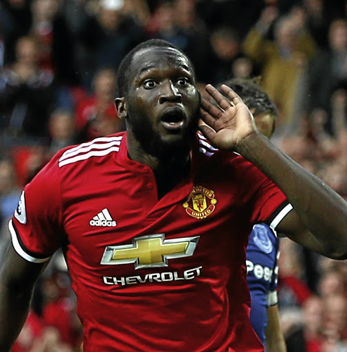 Shout-out: Romelu Lukaku has been in prolific scoring form since joining Man United from Everton… here he celebrates a goal against his former club. Picture: REUTERS