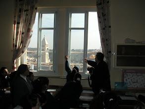 Photo: Vue sur la vieille ville d'une classe de collège des soeurs de Saint-Joseph à Jérusalem