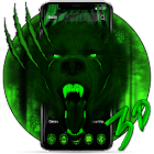 3d Green Neon Bear Theme icon