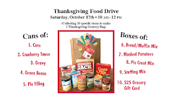 Thanksgiving Food Drive - October 17th