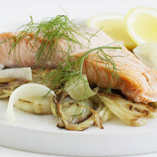 Salmon with Braised Fennel.