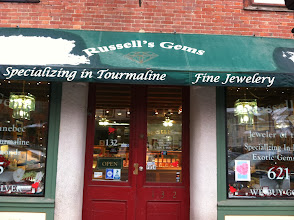 Photo: Russell's Gems in Hallowell, ME proudly displaying their BBB Accreditation