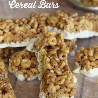 White Chocolate Cereal Snack Bars
