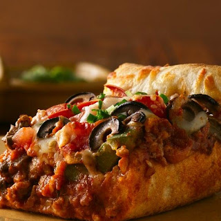 Chicago Deep-Dish Sausage Pizza.