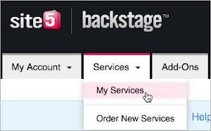 My Services option on the Services tab is selected.