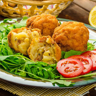 Fried Mac And Cheese Balls.