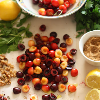 Savory Spiced Cherry Walnut Salad