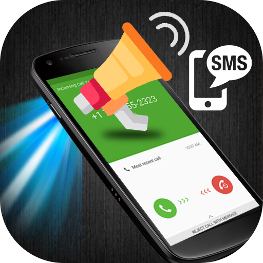 Caller name announcer plus flash on Call and SMS